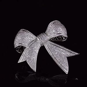 Diamonelle Ribbon Brooch